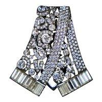 French Art Deco Sterling Paste Dress Clip Pendant
