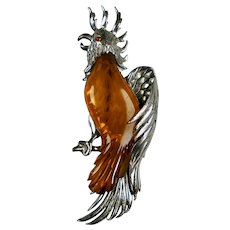 Vintage Large Cockatoo Bird Pin