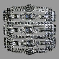 Sophisticated Large Art Deco Crystal Pin