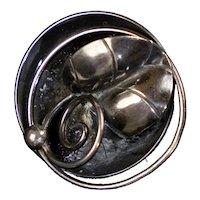 Scandinavian Art Deco Sterling Silver Brooch