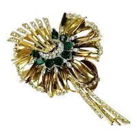 Magnificent Large Retro Dimensional Pin Brooch