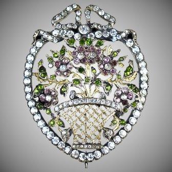 Extraordinary Victorian Multi Color Paste Brooch
