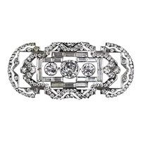 Special  Art Deco 935 Sterling Paste Stones Pin