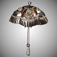 Vermeil Sterling Nettie Rosenstein Umbrella Pin