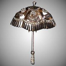 Vermeil Sterling Nettie Rosenstein Umbrella Pin