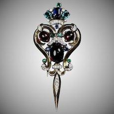 Crown Trifari Jewels of India Moghul Pin Fur Clip