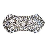 Elegant Art Deco Sterling Silver Paste Pin