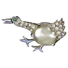 Sweet Duck Baroque Pearl Scatter Pin Rare