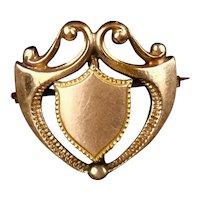 Graceful Art Nouveau Gold Filled Watch Pin