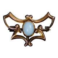Art Nouveau Abstract Butterfly Watch Pin