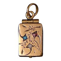 Sweet Victorian Gold Fronted Locket Pendant Charm