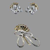 Stunning Designer Mazer Sterling Pin Earrings Set