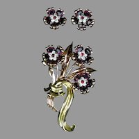 Stunning Rare Pennino Pin and Earrings Set