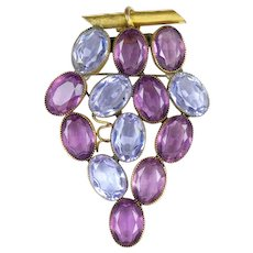Stunning Large Cluster of Grapes Crystal Pin