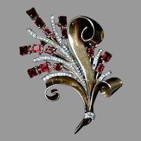 Captivating Alfred Philippe Crown Trifari Rose Gold Vermeil Pin