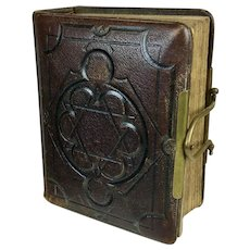 Antique Star of David Leather Photo Album Ireland