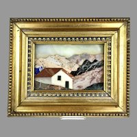Pietra Dura Landscape in Frame from Italy