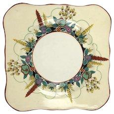 Pretty Set of 5 Art Deco Soho Pottery Plates