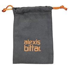 Vintage Alexis Bitter Jewelry Suede Pouch