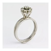 Art Deco Period 14KWG Diamond Ring