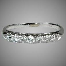 Art Deco Platinum 7-Diamond Band Ring
