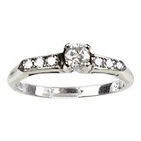 14K White Gold Diamond .45ctw Engagement Ring