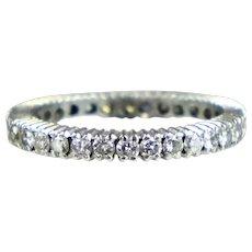 Vintage Platinum Diamond 1.00ctw Eternity Band Ring