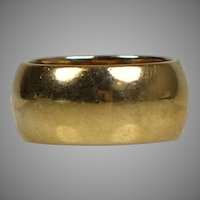 Heavy Wide 14K Gold Unisex Wedding Band Ring