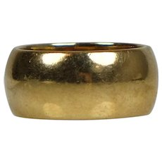 Heavy Wide 14K Gold Unisex Wedding Band Ring