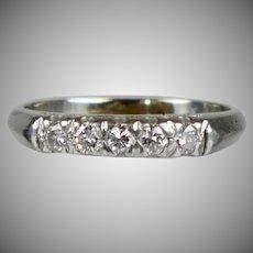 Art Deco Platinum Diamond Band Ring