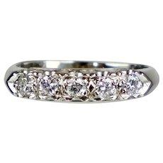 Art Deco 14K Diamond Band Ring
