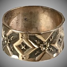 Victorian 10K Rose Gold Engraved Band Ring