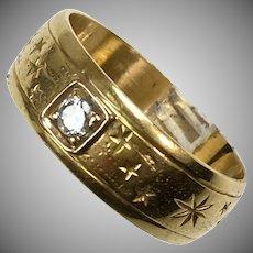 Vintage 18K Gold Diamond Band Ring