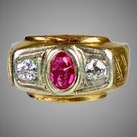 Chunky Retro 14K Rose Gold Unisex Ring