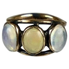 Vintage 14K Rose Gold Moonstone Ring