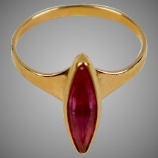 14K Gold Marquise Pink Sapphire Ring