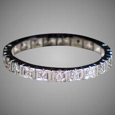 Vintage c.1920 14K Gold Diamond Eternity Band Ring