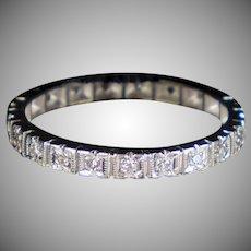 Vintage 14K Gold Diamond Eternity Band Ring