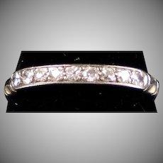 Art Deco 14K Gold 9-Diamond Band Ring