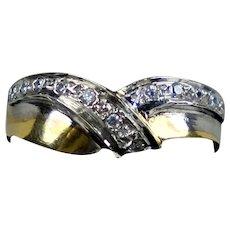 Vintage 14K White Gold Diamond .35 ctw Band Ring