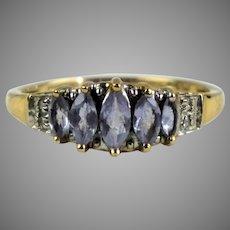 Vintage 10K Gold Light Amethyst Ring