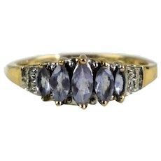 Vintage Gold Light Amethyst Ring