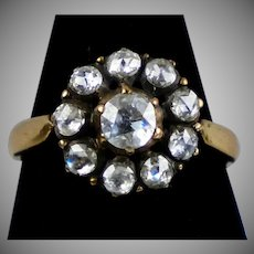 Victorian Style Rose Gold Rose Diamond Ring