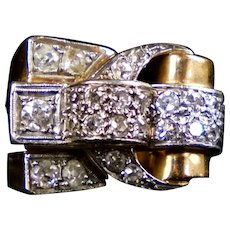 STUNNING French Retro 18K Diamond Ring