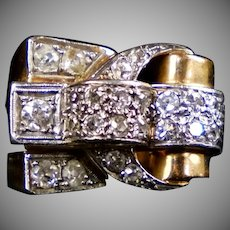 STUNNING French Retro 18K Diamond Ring