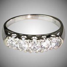 Art Deco 14K Gold Diamonds Band Ring