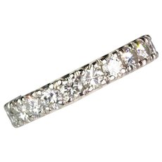 Vintage 18K Gold Diamond 1.80ctw Eternity Band Ring   Sparkle Galore - Red Tag Sale Item