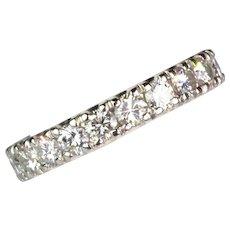 Vintage 18K Gold Diamond 1.80ctw Eternity Band Ring   Sparkle Galore