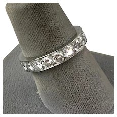 Tiffany Platinum Diamond 2.85ctw Eternity Band Ring with Box