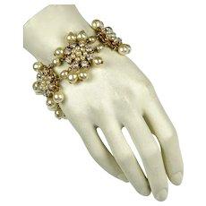 Signed Miriam Haskell Pearl Bracelet